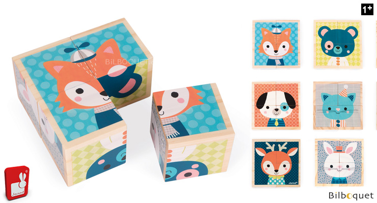 My First Wooden Blocks - Forest Portraits Janod