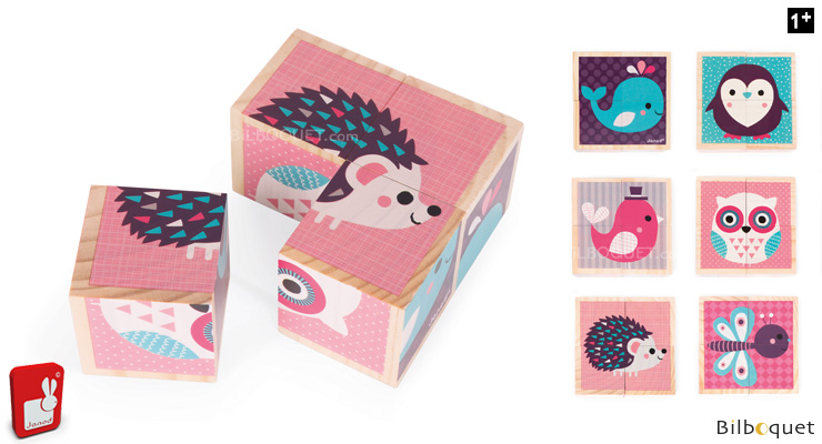 My First Wooden Blocks - Baby Animals Janod
