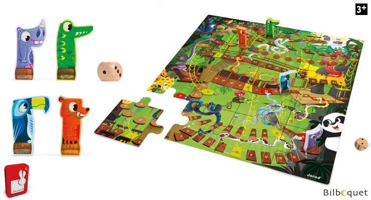 Jungle Snakes and Ladders - Giant Game Janod