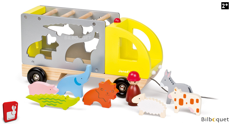 Multi Animo Maxi Truck - Wooden Toys Janod