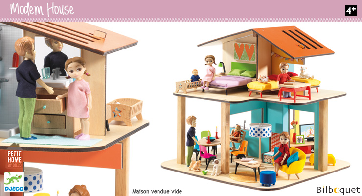 Modern House Doll House (empty) Djeco