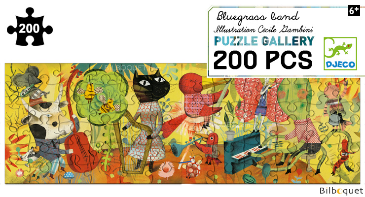 Puzzle Gallery 200 pieces Bluegrass Band Djeco