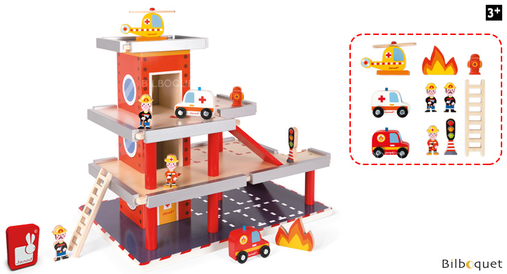 Fire Station - Wooden Toy Janod