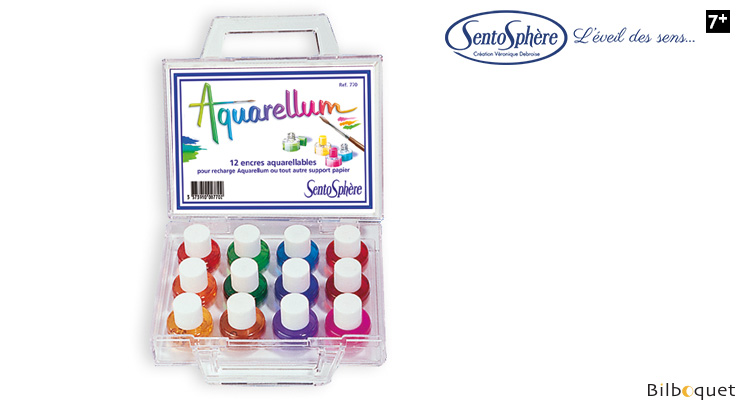 12 watercolors for Aquarellum Refill SentoSphère