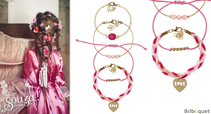 Afra Bracelets pink/fuchsia - Kids Jewelry Souza for kids
