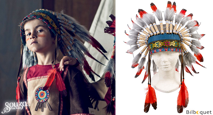 Ituha Chief Indian Headdress Souza for kids