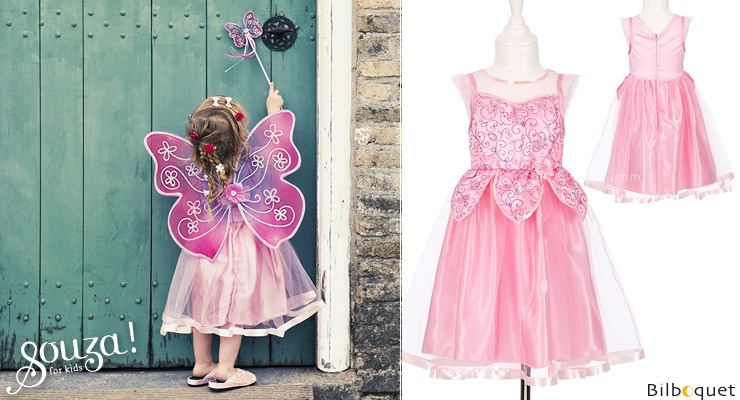 Robe rose Mirabelle - Déguisement fille 5-7 ans Souza for kids