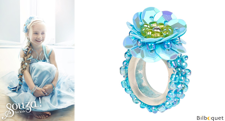 Bague Jessy - Aqua - Bijou enfant Souza for kids