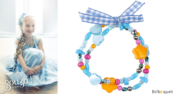 Ciske Bracelets blue/orange - Kids Jewelry Souza for kids