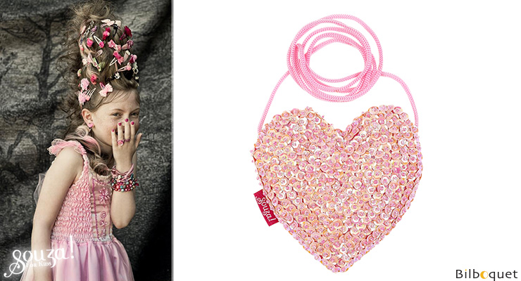 Emma Pink Handbag - Heart - Accessory for Girls Souza for kids