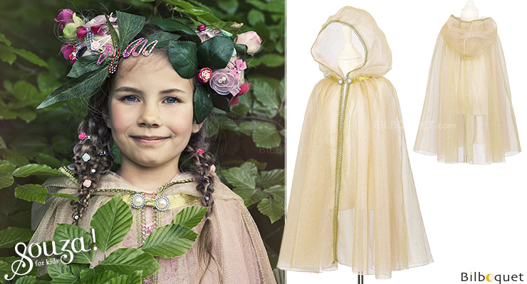 Victorine Golden Cloak - Costume for Girl ages 5-7 Souza for kids