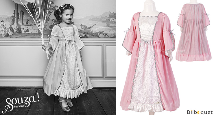 Robe rose clair Cathalina - Déguisement fille 8-10 ans Souza for kids