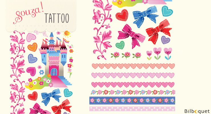 Castle Tattoos for children (ephemeral) Souza for kids