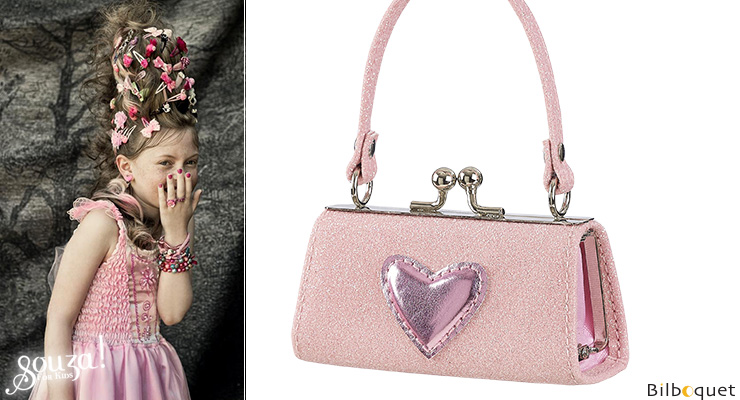 Porte-monnaie rose Julide avec coeur brillant Souza for kids