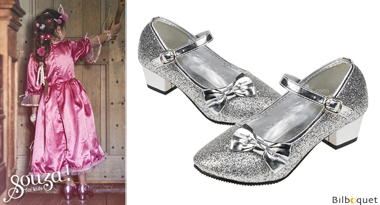 Sparkling Shoes with high heel Aurora - Silver size 32 Souza for kids