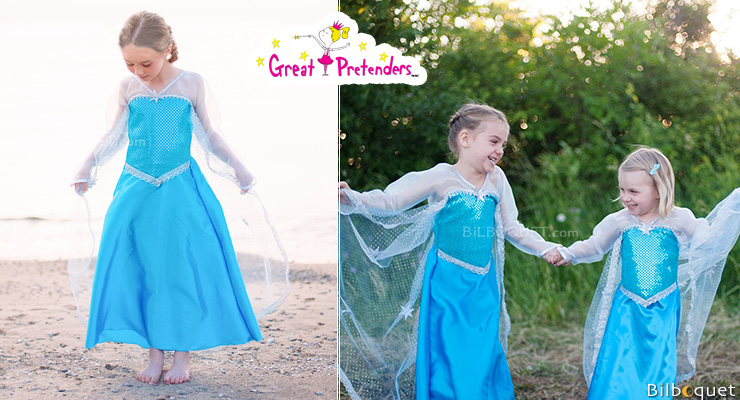 Crystal Queen Dress - blue - Costume for Girl ages 5-6 Great Pretenders