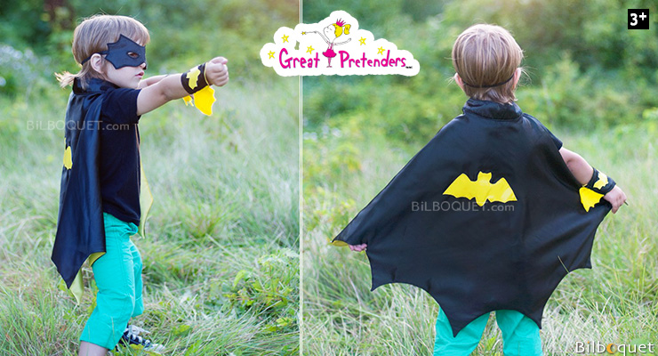 Batman Cape Set - Kid Costume ages 3-4 Great Pretenders