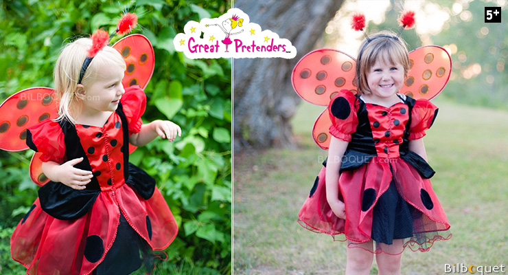 Ladybug Dress - Girl Costume ages 5-6 Great Pretenders