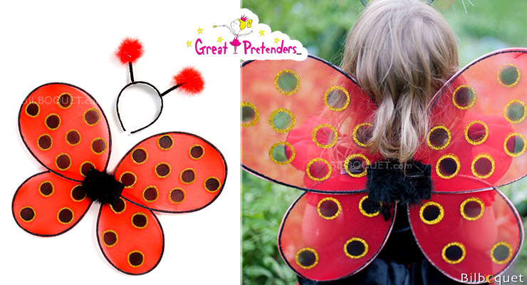 Ladybug Wings and Headband - Girl Costume Great Pretenders