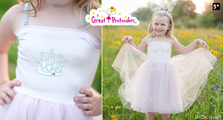 Robe princesse Rose clair - Déguisement fille 5-6 ans Great Pretenders