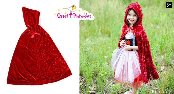 Little Red Riding Cape - Kid Costume ages 5-6 Great Pretenders