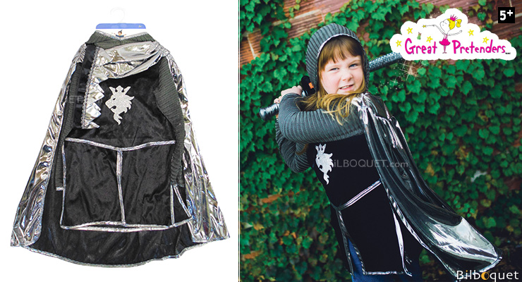 Knight Set (tunic, cape, crown) - Kid Costume ages 5-6 Great Pretenders