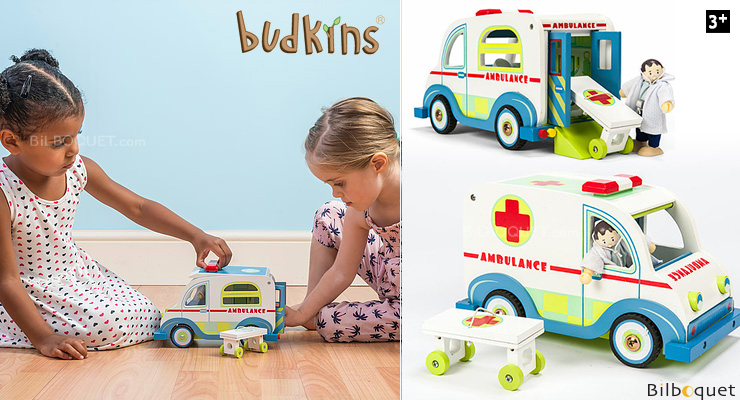 Ambulance Set - Wooden Toy Le Toy Van
