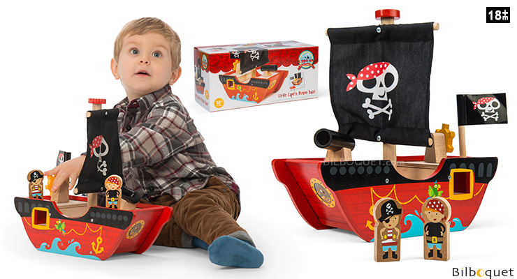Little Capt'n Pirate Boat - Wooden Toy Le Toy Van