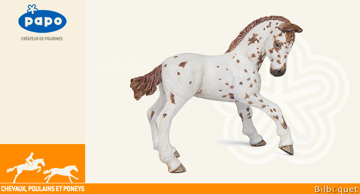 Poulain appaloosa brun - Figurine à collectionner Papo