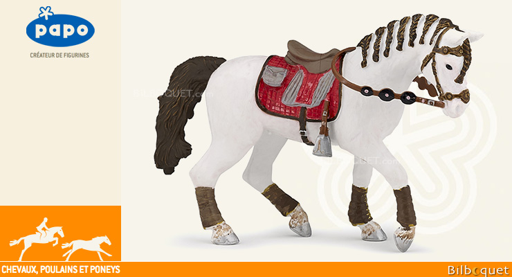 Cheval du cavalier fashion - Figurine Papo Papo