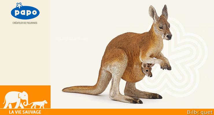 Kangaroo with joey - Papo Figurine Papo