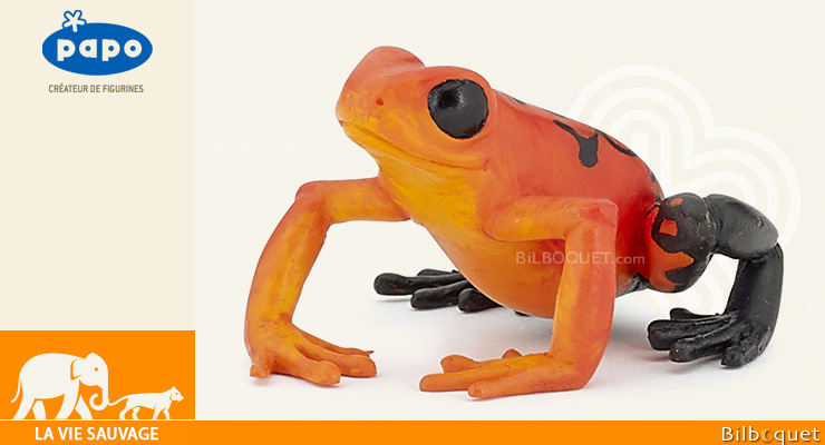 Equatorial Red frog - Wild Animal Kingdom Figurine Papo