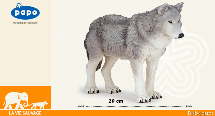 Large Wolf - Large Papo Figurine 20cm Papo