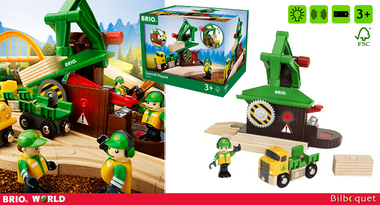 Sawmill Play Set with sound and light - Buildings and Accessories BRIO