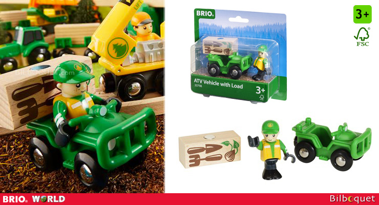 ATV with load and play figure - BRIO Vehicles BRIO