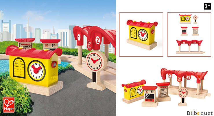 Record Listen and Light Railway Station Hape Toys