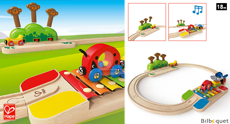 My Little Railway Set - Early Age Wooden Train Hape Toys