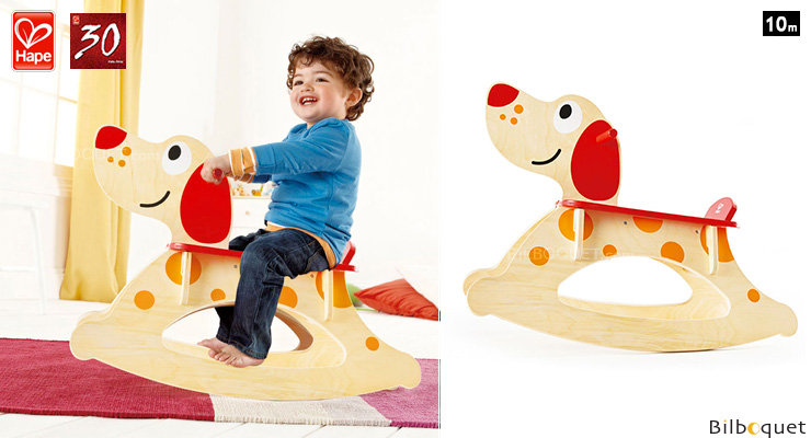 Wooden Rocking Dog - Preschool Toy Hape Toys
