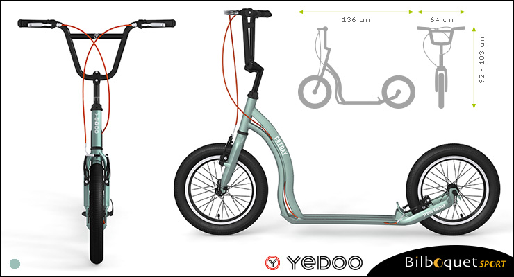 Friday Scooter - Silver Green - Yedoo ALLOY Yedoo