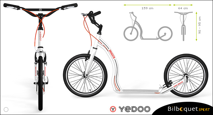 Dragstr Scooter - White - Yedoo ALLOY Yedoo
