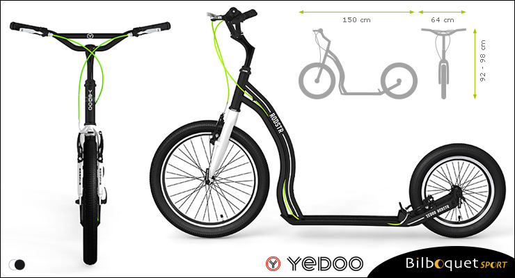 Dragstr Scooter - Black White - Yedoo ALLOY Yedoo