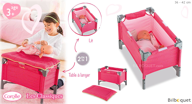 Doll Bed & Changing Table for 36/42cm Doll Corolle