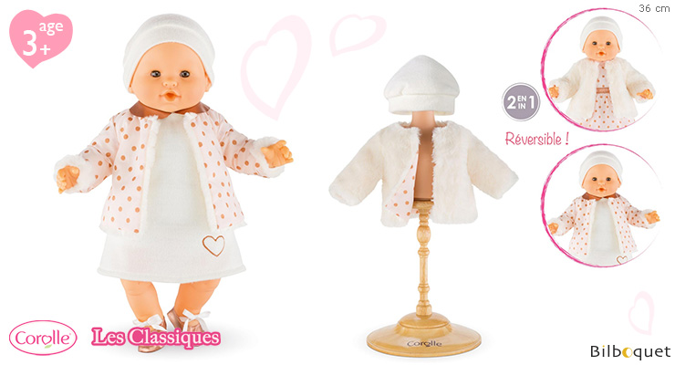 Snow Treasure Coat for 36cm baby doll Corolle