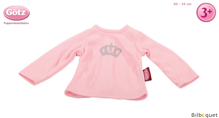 T-Shirt rose royal pour poupon de 30 à 33cm Götz Poupées
