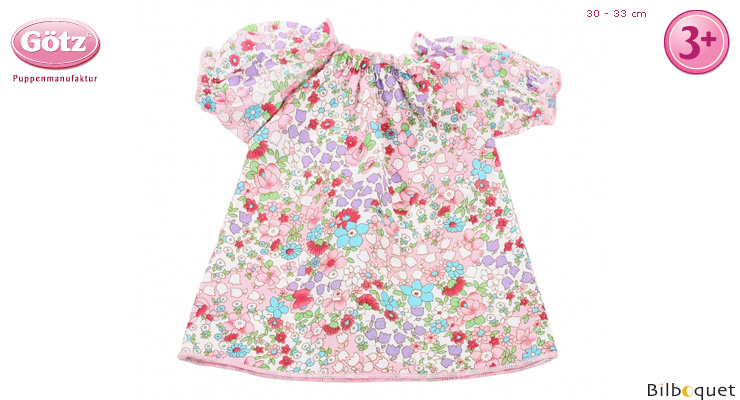 Floral Nightgown for 30-33cm baby doll Götz Dolls