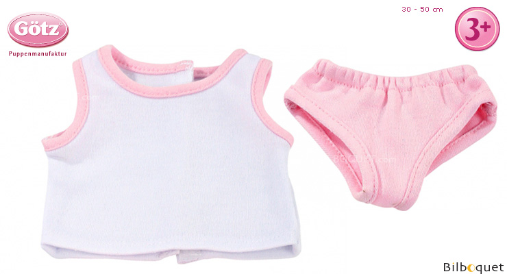 Pink Underwear Set for 30-50cm dolls and baby dolls Götz Dolls