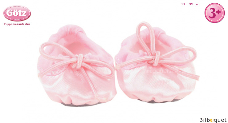 Pair of Ballet Shoes for 30-33cm baby doll Götz Dolls