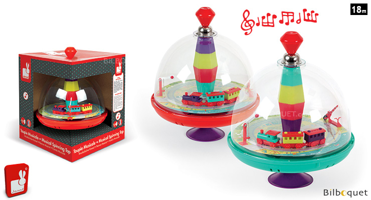 Choo Choo Train Musical Spinning Top - Preschool Toy Janod