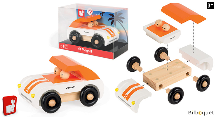 Roadster Magnet Kit - Magnetic Wooden Car Janod