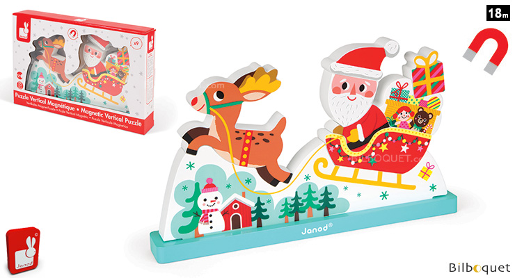 Magnetic Vertical Puzzle - Santa's Sleigh Janod